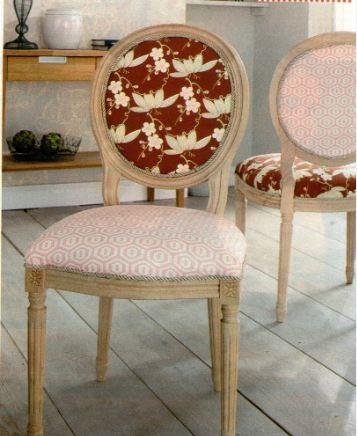 La sedia ricoperta donnecreative - Tappezzare sedia costo ...